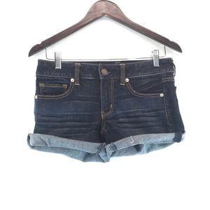 American Eagle Denim Cuffed Jean Short Shorts